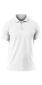 2020 Zhik Leichtes Poloshirt White Marl Pol0005