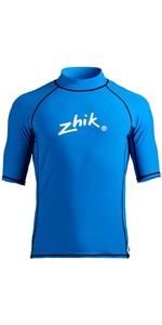 2021 Zhik Mens Short Sleeve Spandex Rash Top TOP65 - Cyan