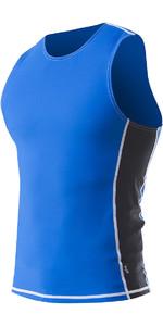 2021 Zhik Spandex Hommes UV50 Lycra Vest TOP60 - Cyan