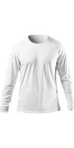 2021 Zhik Men's Zhikdry Uv Active Top De Manga Comprida Atp0070 - Branco
