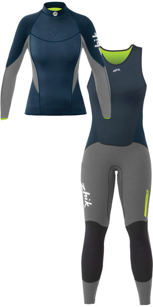 2019 Zhik Womens Zhik V in neoprene Top e Long John Combi Set Navy