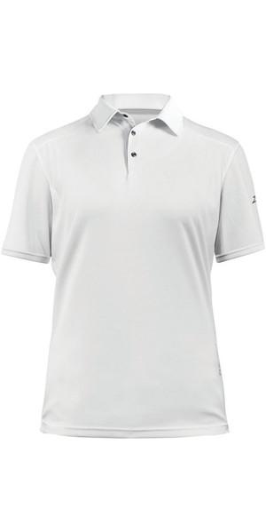 2019 Zhik Damen ZhikDry LT Kurzarm Polo Top Weiß 0870W