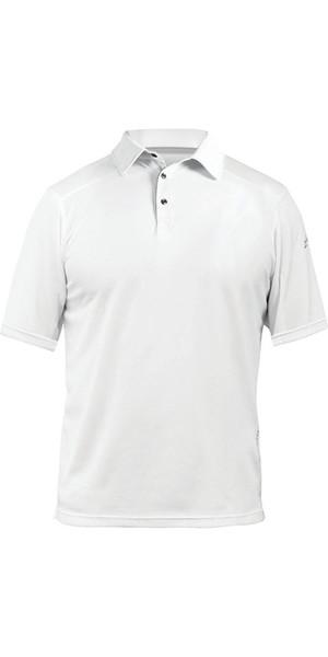 2018 Zhik ZhikDry LT Polo à manches courtes blanc 0870