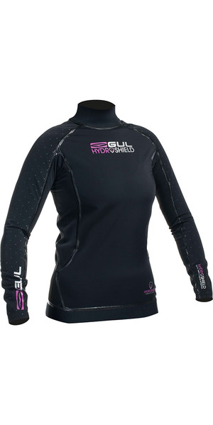 2018 Gul Womens Hydroshield Pro Waterproof Thermal Long Sleeve Top BLACK AC0095-A5