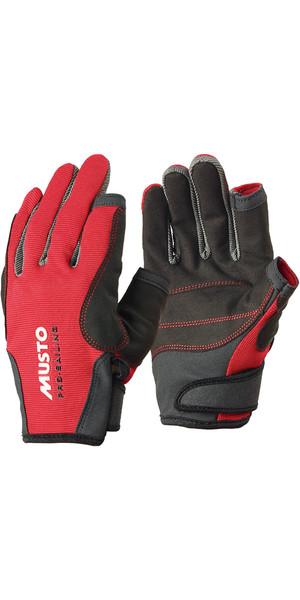 Musto Essential Vela guanti lunghi dita ROSSO AS0803