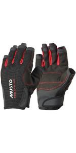 Musto Essential Sailing Short Finger Gloves BLACK AS0813