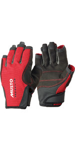 Musto Essential Segeln Kurzfinger Handschuhe RED AS0813