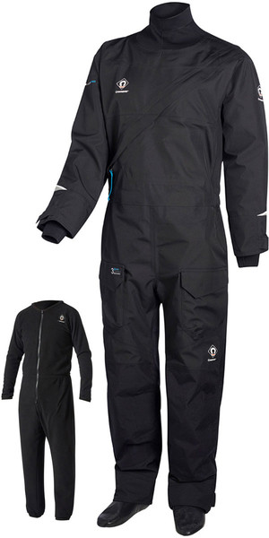 2019 Crewsaver Junior Atacama Pro Drysuit INKLUDERT UNDERSUIT BLACK 6556J