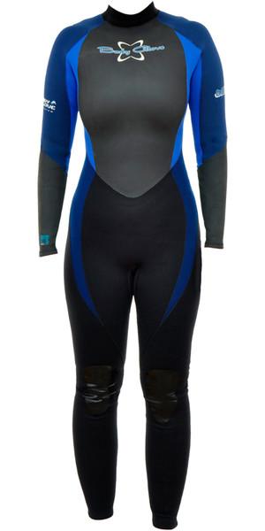 Traje de neopreno para mujer Bodyglove Bliss 3 / 2mm negro / azul BG463