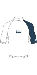 2019 Billabong Mens Contrast Short Sleeve Rash Vest White N4MY04