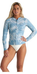2020 Billabong Womens Peeky 1mm Neoprene Jacket S41G61 - Blue Palms