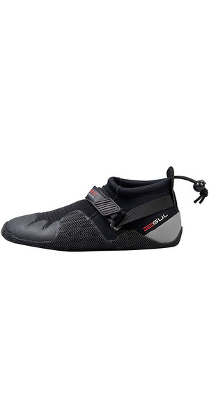 2019 Gul Strapped Slipper 3mm Titanium Shoe BLACK / GRAY BO1265-A8
