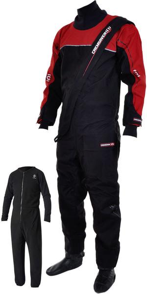 Crewsaver Cirrus Drysuit incluyendo UnderFleece Dry Bag Black / RED 6515
