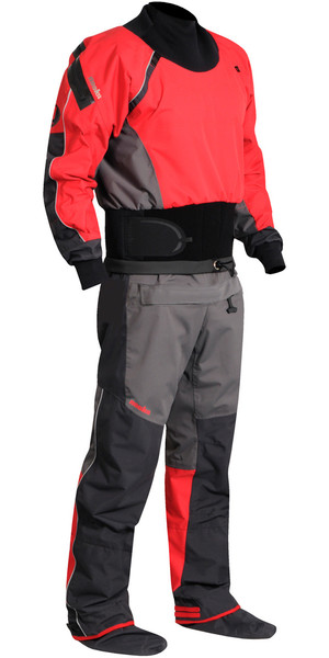 2018 Nookie Charger Kanu / Kayak Drysuit Charcoal Grey / Red DR10