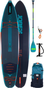 2020 Jobe Duna 11'6 Inflatabale SUP Package - Board, Paddle, Bag, Pump & Leash 486421004
