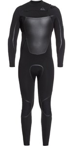 2020 Quiksilver Herren Syncro + 4/3mm Chest Zip Eqyw103082 Wetsuit - Schwarz / Jet Black