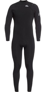 2020 Quiksilver Mens Syncro 4/3mm Chest Zip Wetsuit EQYW103087 - Black / Silver