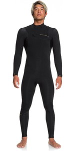2020 Quiksilver Herren Highline Lite 3/2mm Chest Zip Wetsuit Eqyw103099 - Schwarz / Gold