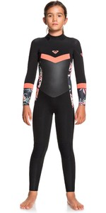Acquista Muta Ragazza Roxy Syncro 3/2mm Back Zip Ergw103030 - Nera / Coral Brillante