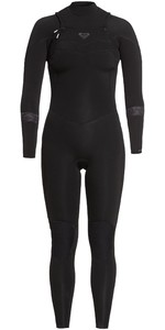 2021 Roxy Feminino Syncro 4/3 4/3mm Chest Zip Wetsuit Erjw103055 - Preto / Jet Black