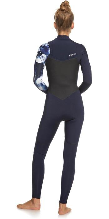 2021 Roxy Womens Performance 3/2mm Chest Zip Wetsuit ERJW103060 - Dark Navy / White