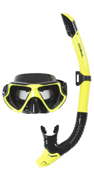 2019 Gul Taron Adult Mask & Snorkel Set in Yellow / Black GD0001