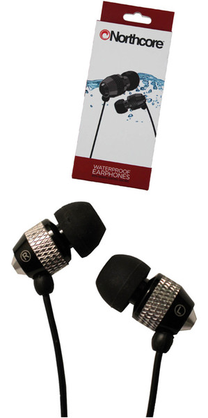 2018 Northcore 'Soundwave' Auriculares impermeables NEGRO NOCO181B