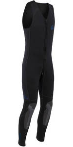 2019 Palm Inferno 5mm Duplo Forrado Neoprene Front Zip Long John Wetsuit Preto 10479