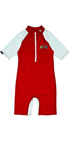 Billabong Jungle Toddler Maniche corte Sun Suit in Fire Red M4KY11