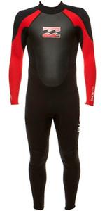 Billabong Junior Intruder 3 / 2mm Flatlock Wetsuit BLACK / RED S43B04