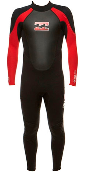 2018 Billabong Junior Intruder 3/2mm Flatlock Wetsuit BLACK / RED S43B04