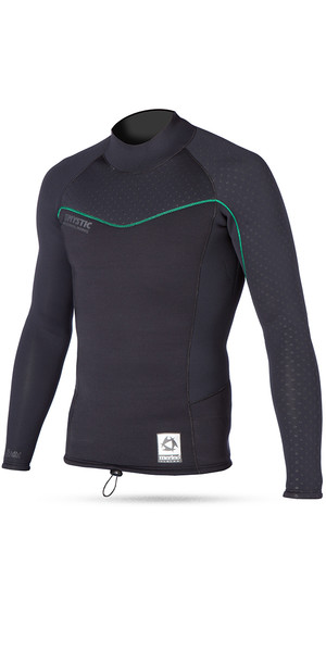 Mystic Merino Wool 1.5mm L / S GBS M-Flex Neoprene Top BLACK 150095