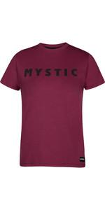 2020 Mystic Womens Brand Tee 210036 - Burgundy