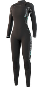 2021 Mystic Dazzled 5/3mm Wetsuit Met Chest Zip Dames 210078 - Zwart