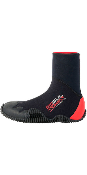2015 Gul Junior Power 5mm Neoprenanzug Stiefel BO1264 Schwarz / RED