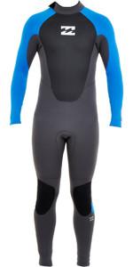 Billabong Junior Intruder 5/4mm Back Zip Gbs Traje De Neopreno Graphite / Azul O45b10
