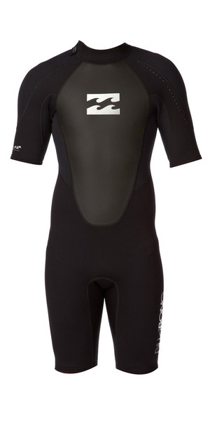 2018 Billabong JUNIOR Intruder 2mm Back Zip Shorty Wetsuit Black S42B08