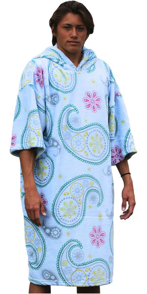 2018 TLS SURF HOODED CHANGING ROBE / PONCHO - Paisley