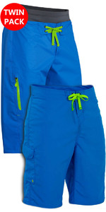 Palm Spring & Summer Shorts: Horizon + Skyline Canoe / Kayak Shorts Blå Bundle Tilbud
