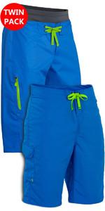 Palm Mens Primavera e Verão Shorts: Horizonte + Skyline Canoa / Kayak Shorts Azul