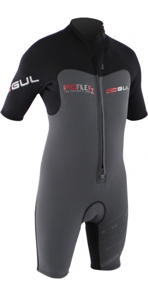 Gul Profile 3/2mm Front Zip Shorty Wetsuit Black / Graphite PR3309