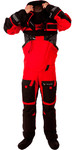 2019 Typhoon Ps330 Xtreme Kayak / Océan Voile Drysuit + Con Zip Noir / Rouge 100151