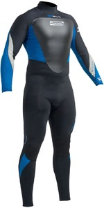 2019 Gul Response 5/3mm Back Zip Gbs Wetsuit Zwart / Blauw Re1213-b1
