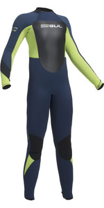 2019 Gul Response 5/3mm Junior Neoprenanzug Navy / Lime Re1218-b1