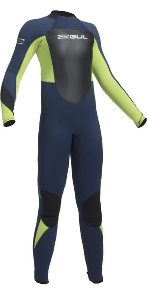 2018 Gul Response 5 / 3mm Junior Neoprenanzug Navy / Lime RE1218-B1