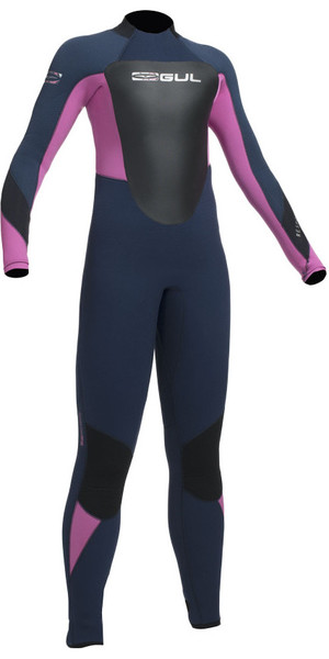 2018 Gul Response 5/3mm Junior Wetsuit Navy / Pink RE1218-B1