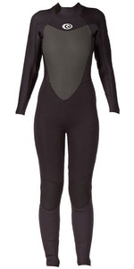 2019 Rip Curl mujer Omega 5/3 mm Cremallera trasera GBS Wetsuit NEGRO WSM4MW