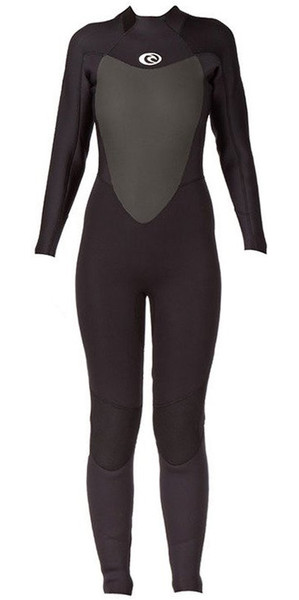 2019 Rip Curl Womens Omega 5/3mm Back Zip GBS Wetsuit BLACK WSM4MW