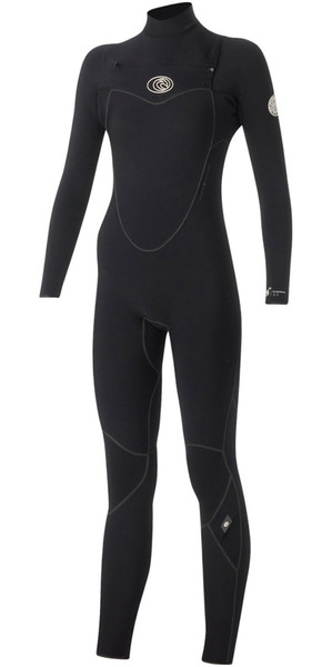 Rip Curl Womens Flashbomb 5/3mm Chest Zip Wetsuit BLACK WSM5GG
