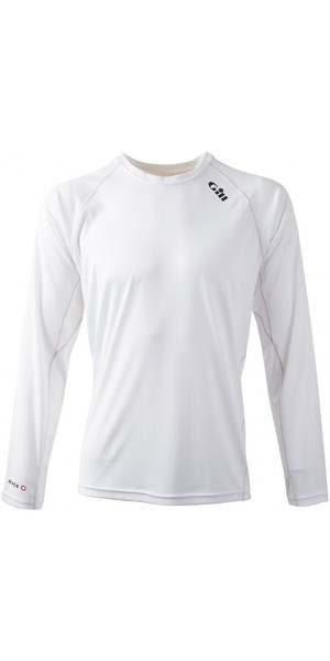 2019 Gill Race Langærmet T-Shirt WHITE RS07